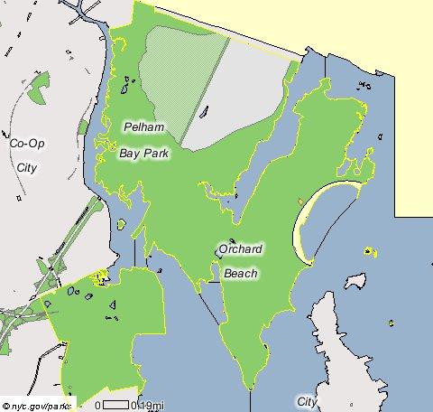 Pelham Bay Park Map MORRISANIA.  Pelham Bay Park Map